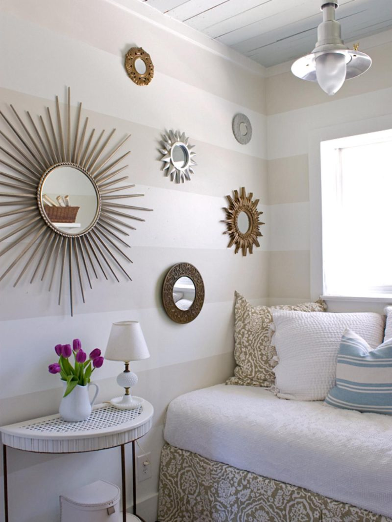 Image of: Small Sunburst Wall Mirror