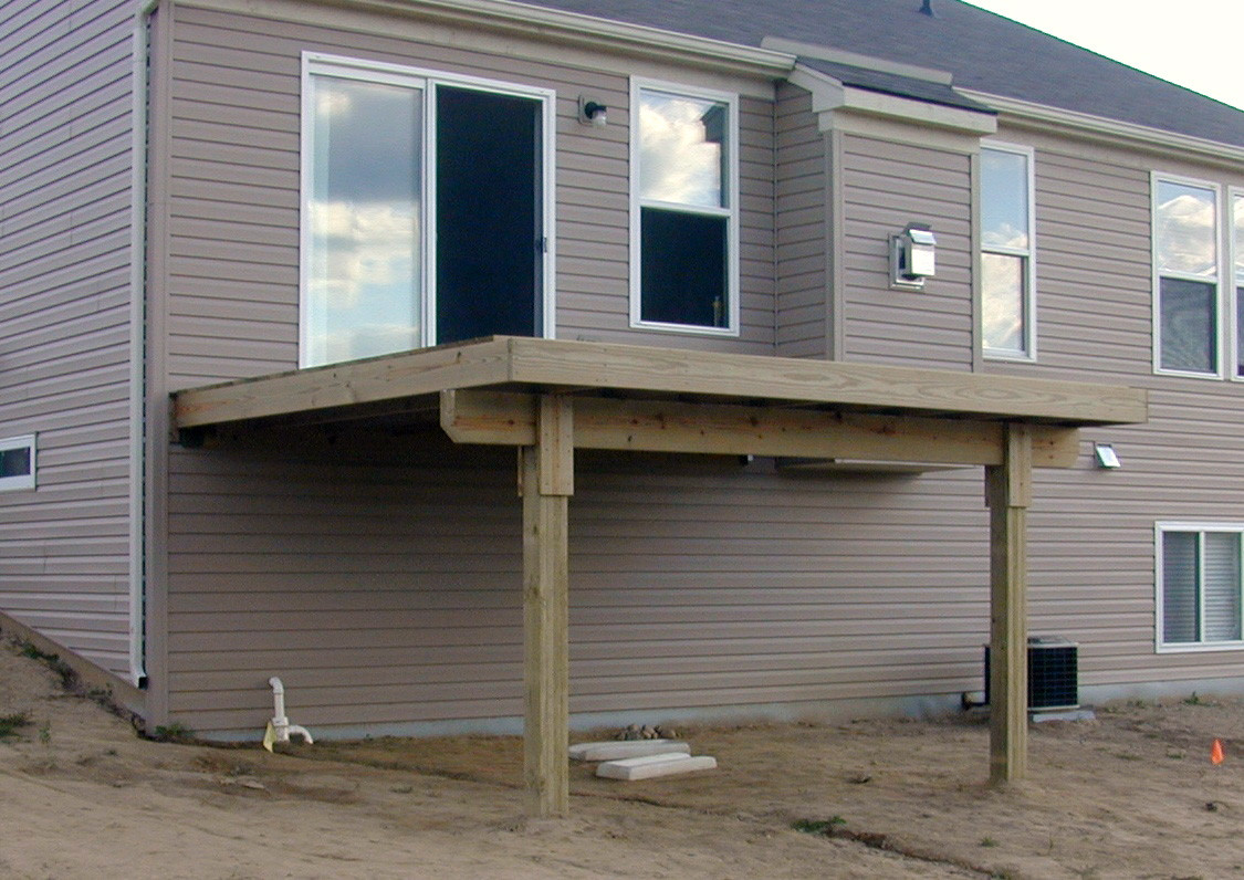 Image of: Small Under Deck Waterproofing
