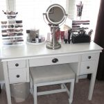 Small Vanity Table with Lighted Mirror