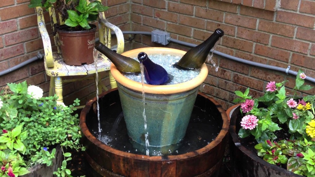 Image of: Small Water Fountain Pots