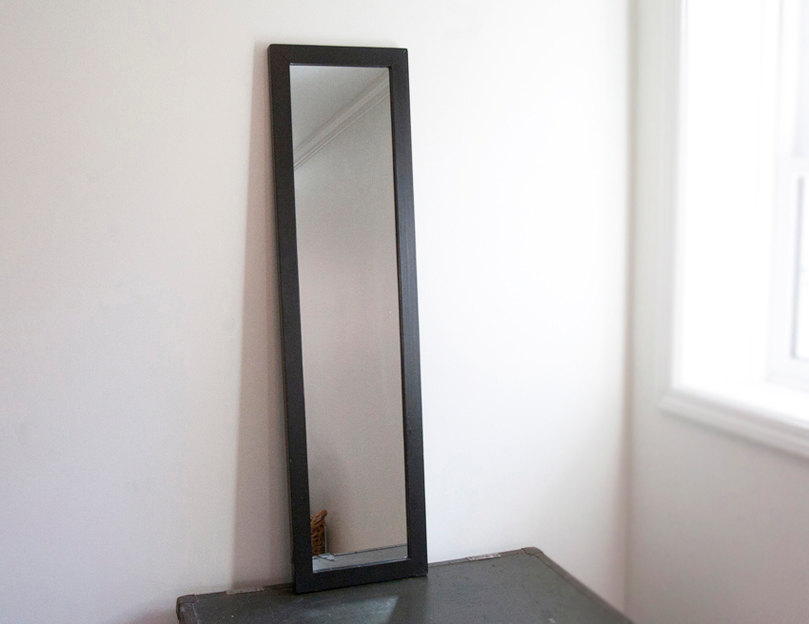 Small Wood Frame Full Length Mirror