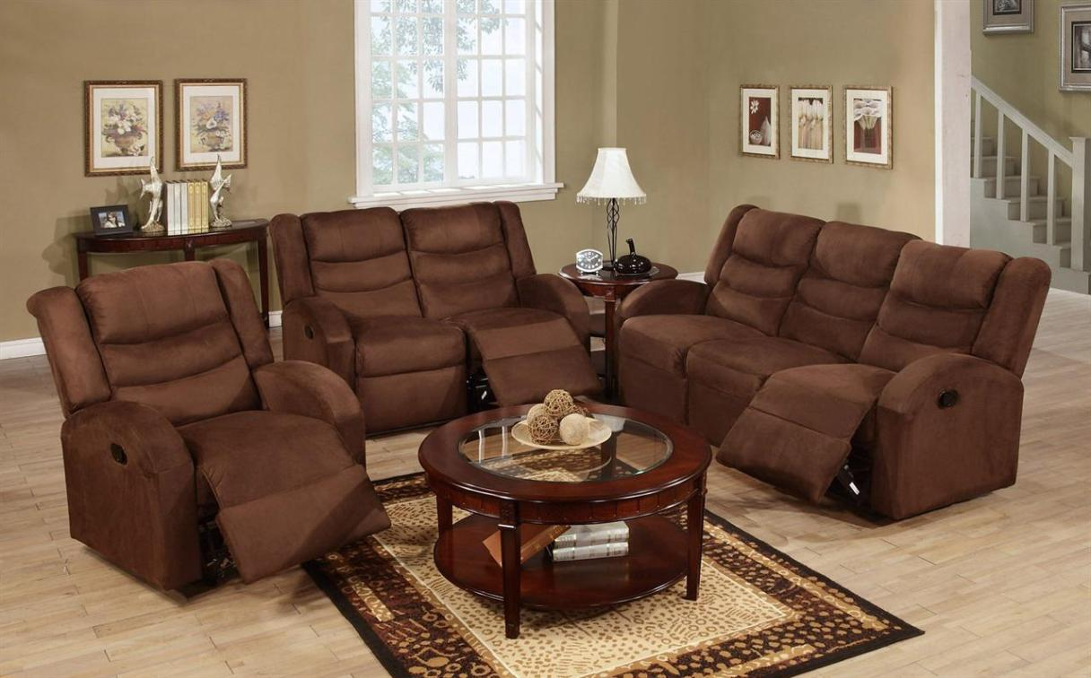 Image of: Sofa Loveseat Recliner Set