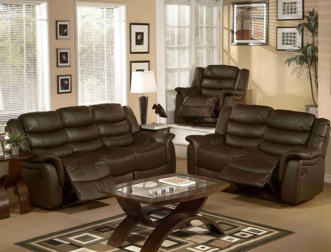 Image of: Sofa Loveseat Recliner Sets