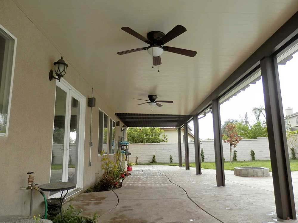 Image of: Solid Aluminum Awnings for Patios