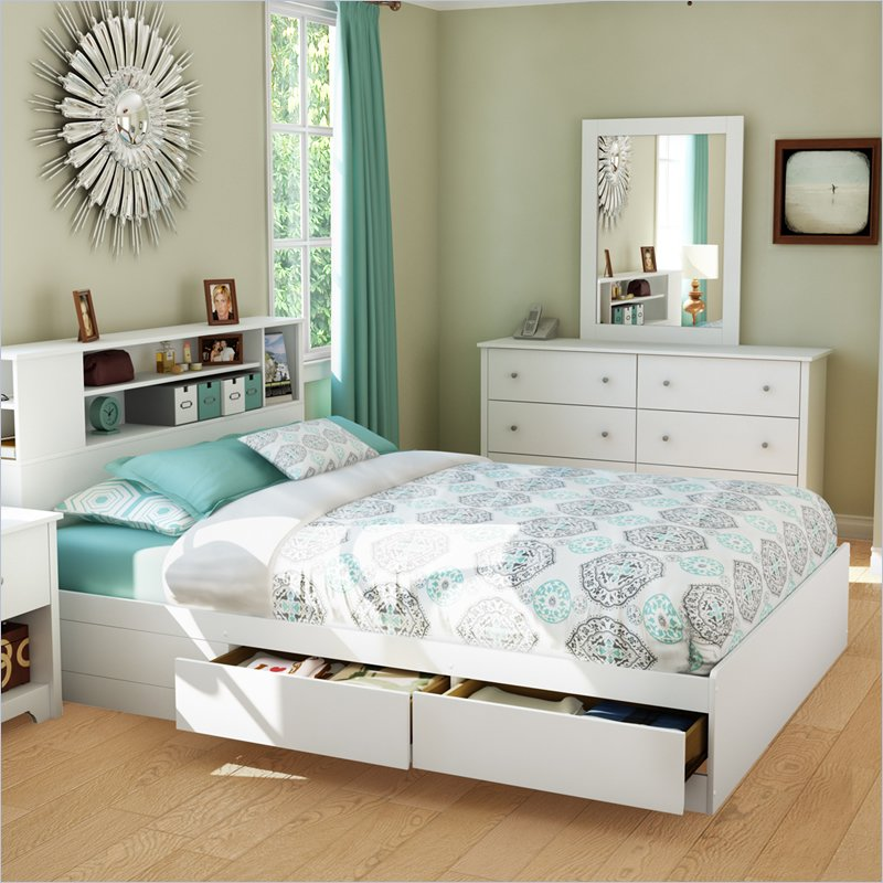 Image of: South Shore Bookcase Headboard