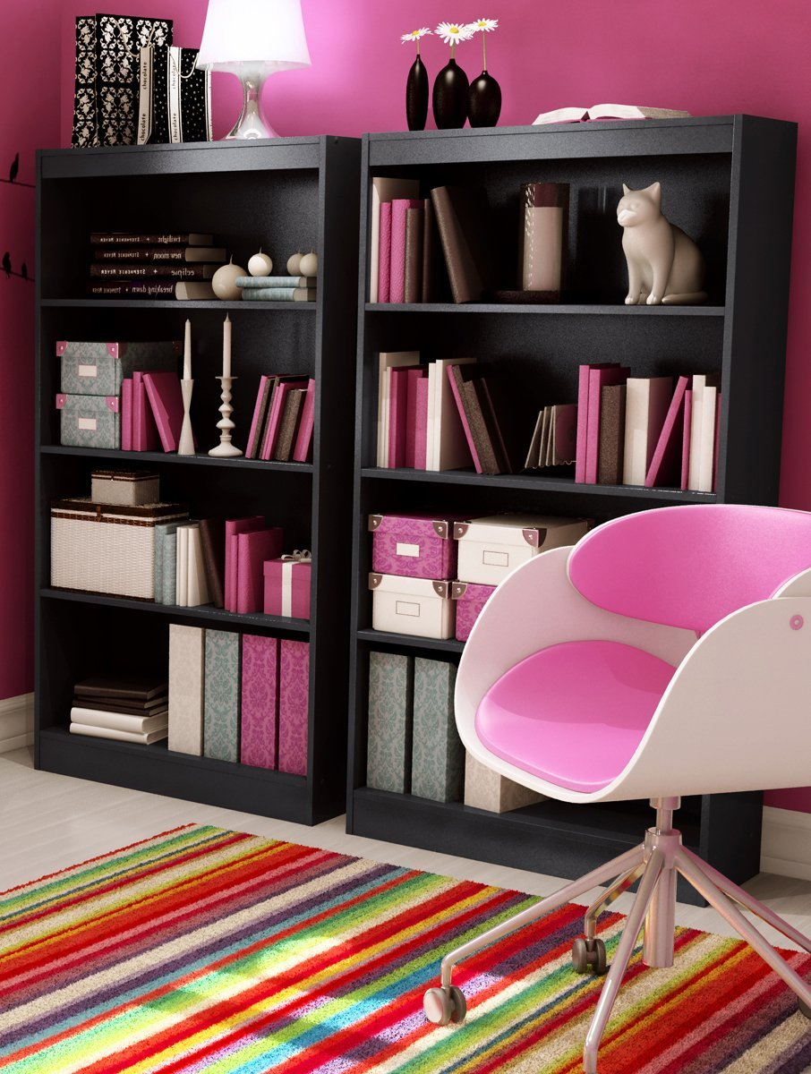 Image of: South Shore Bookcase best pink