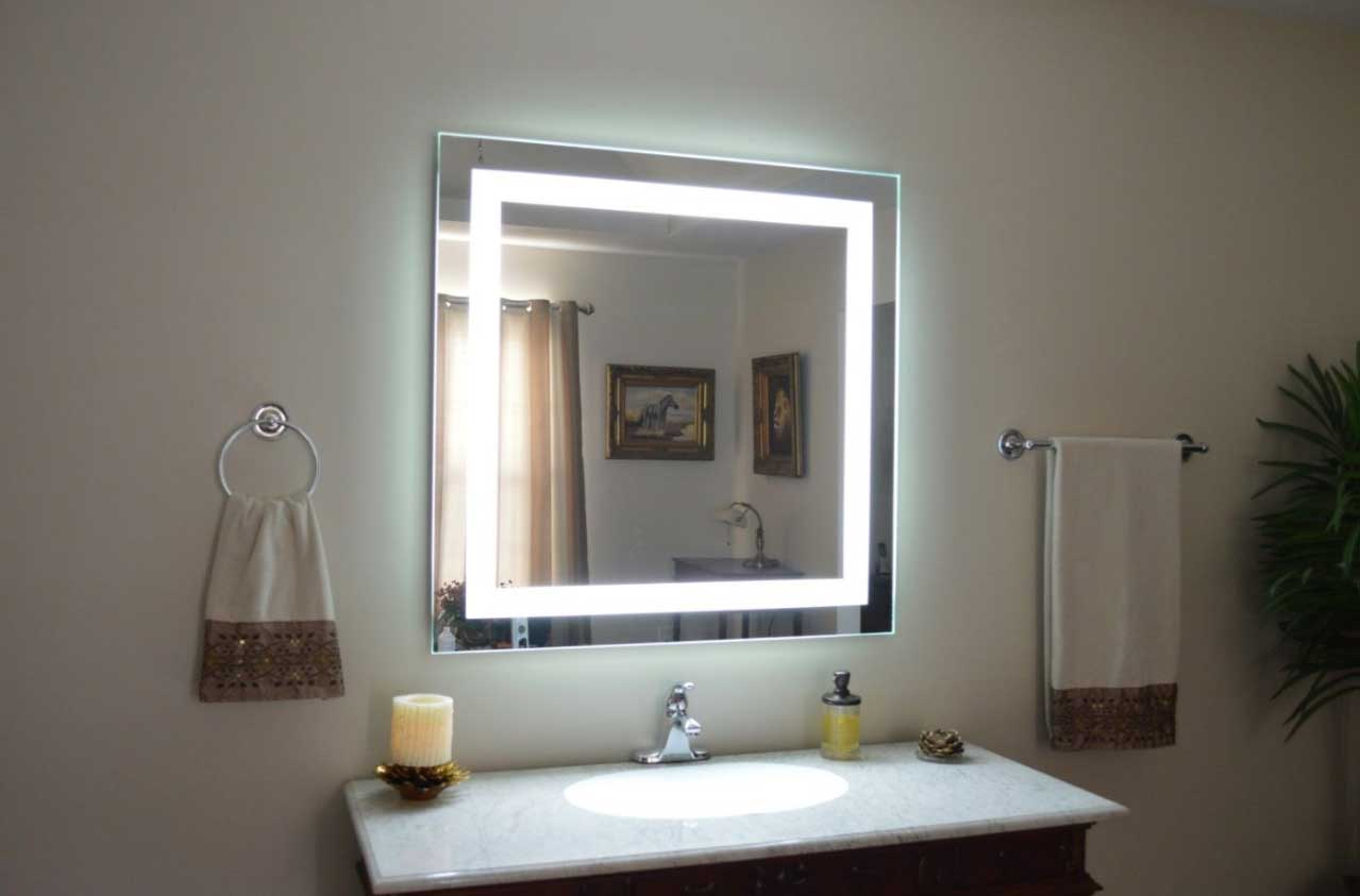 Image of: Square Vanity Wall Mirror