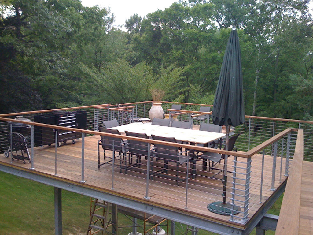 Image of: Steel Deck Railing Pictures