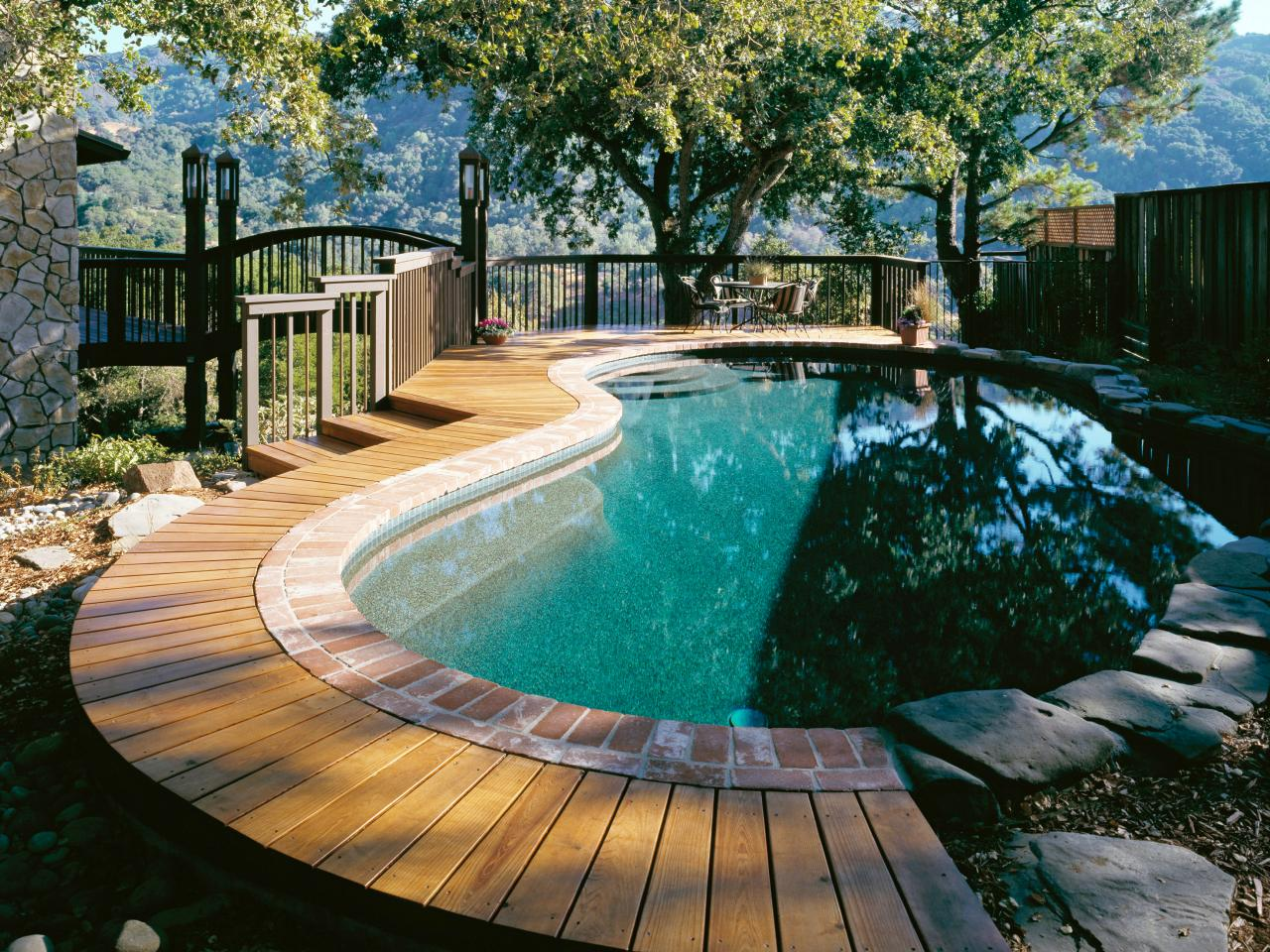 Stylish Above Ground Swimming Pool Decks
