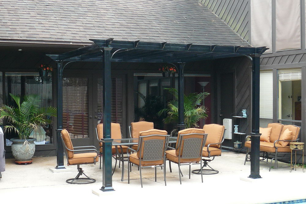 Image of: Stylish Aluminum Pergola Kits