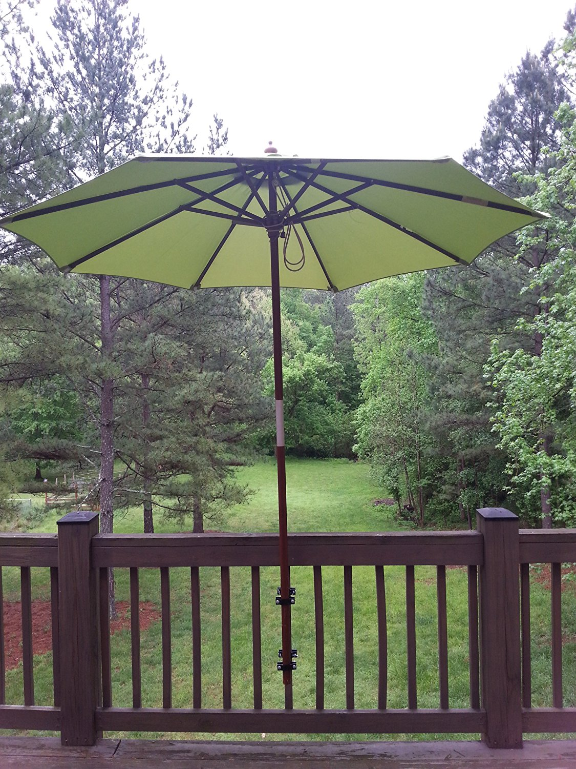 Image of: Stylish Deck Umbrella Mount