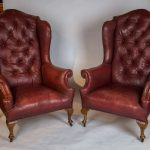stylish leather wingback chair
