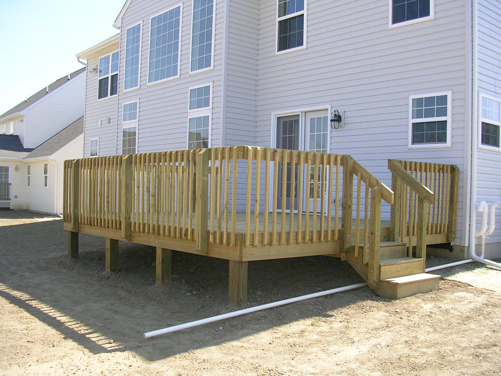 Image of: Stylish Pressure Treated Decking