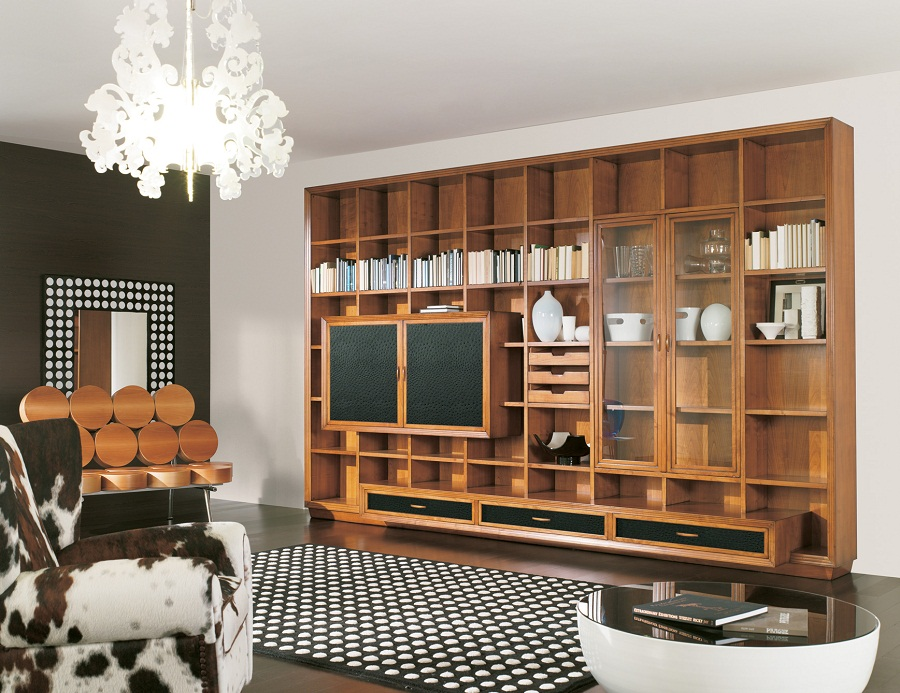 Image of: Stylish Wall Unit Bookcase