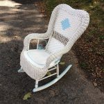 Stylish Wicker Rocking Chair