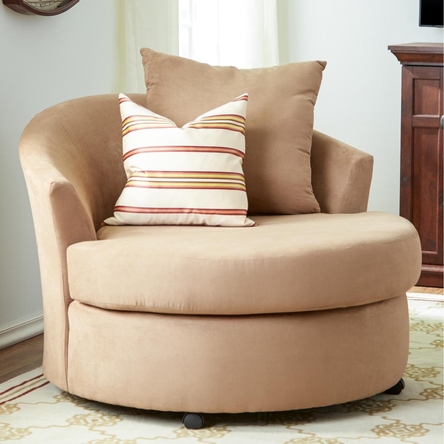 Image of: Swivel Accent Chairs With Arms