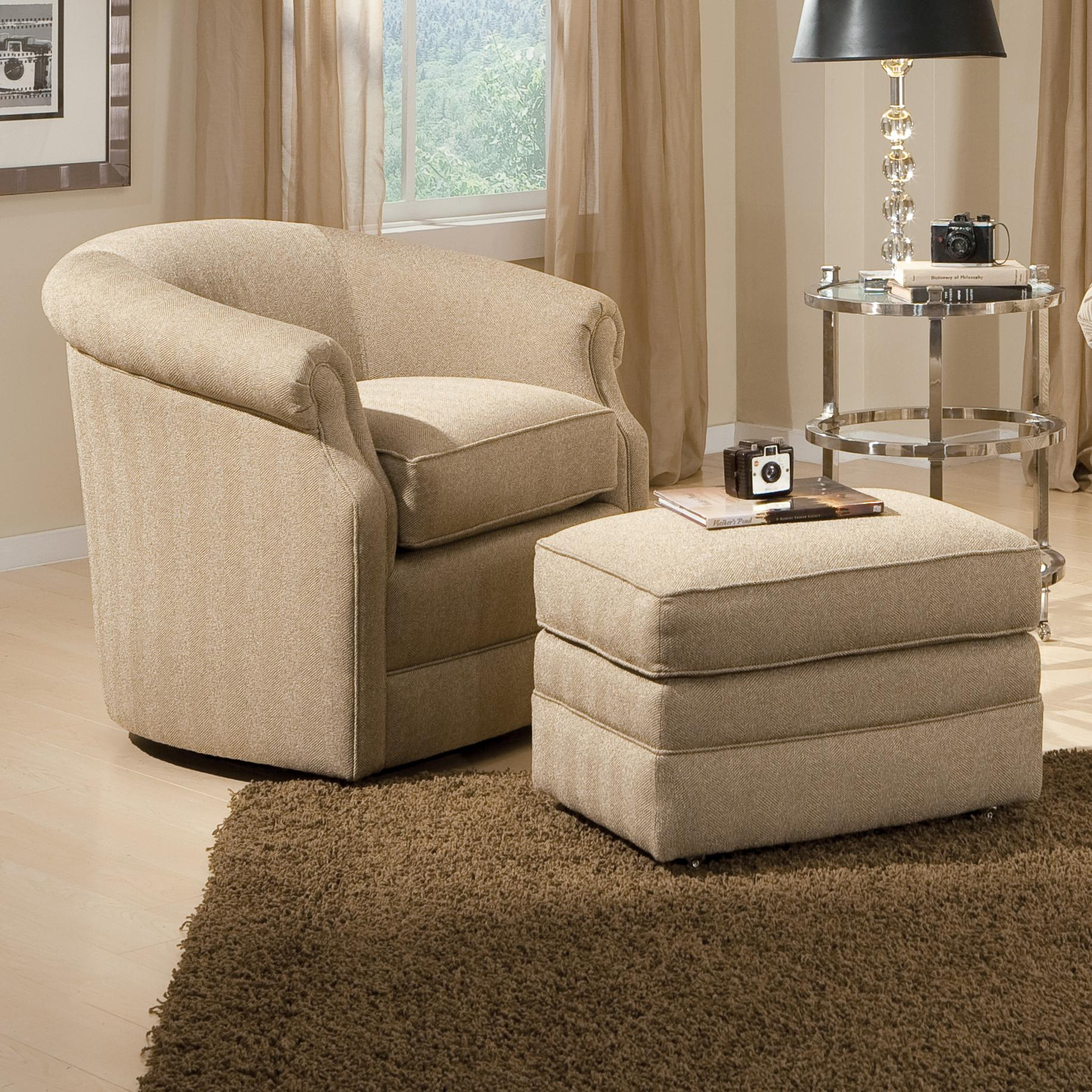 Image of: swivel barrel chair livingroom