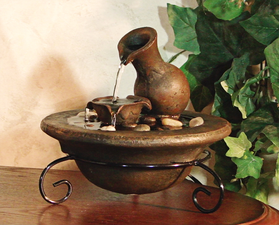 Image of: Tabletop Fountains Ideas