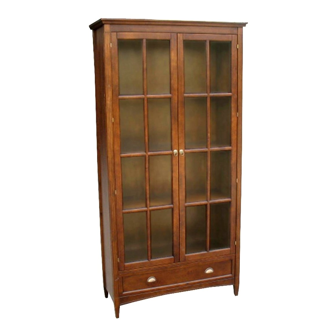 Image of: Tall Bookcases with Doors