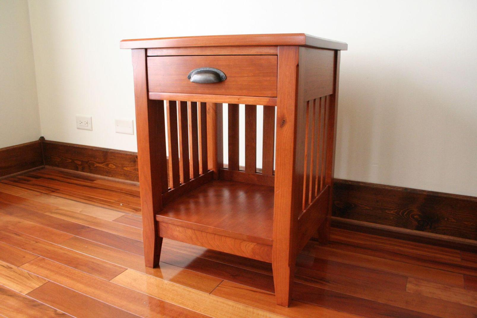 Image of: Tall Cherry Nightstand