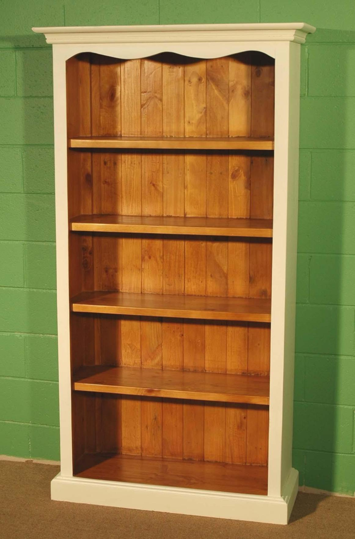 Image of: Tall Narrow Bookcase Oak
