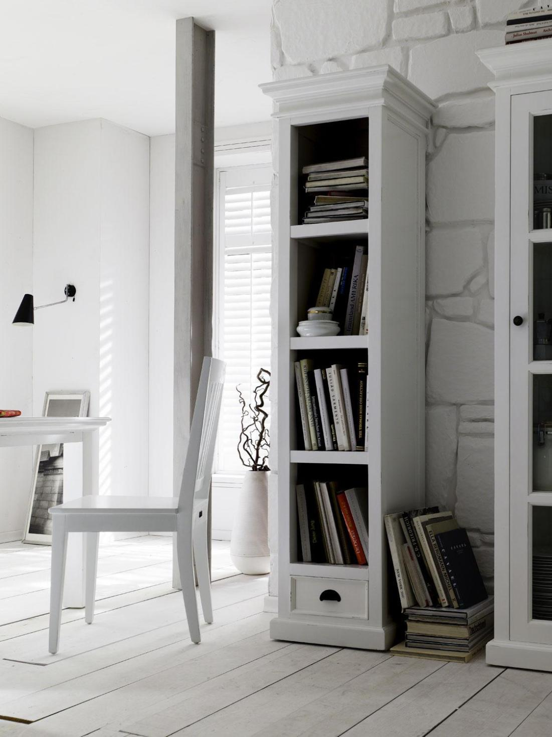 Image of: Tall Narrow Bookcase Plans