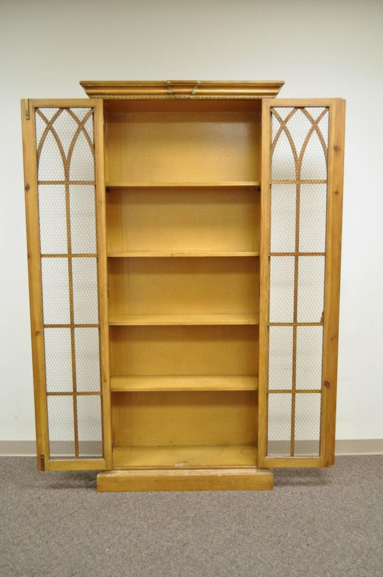 Image of: Tall Narrow Bookcase With Doors