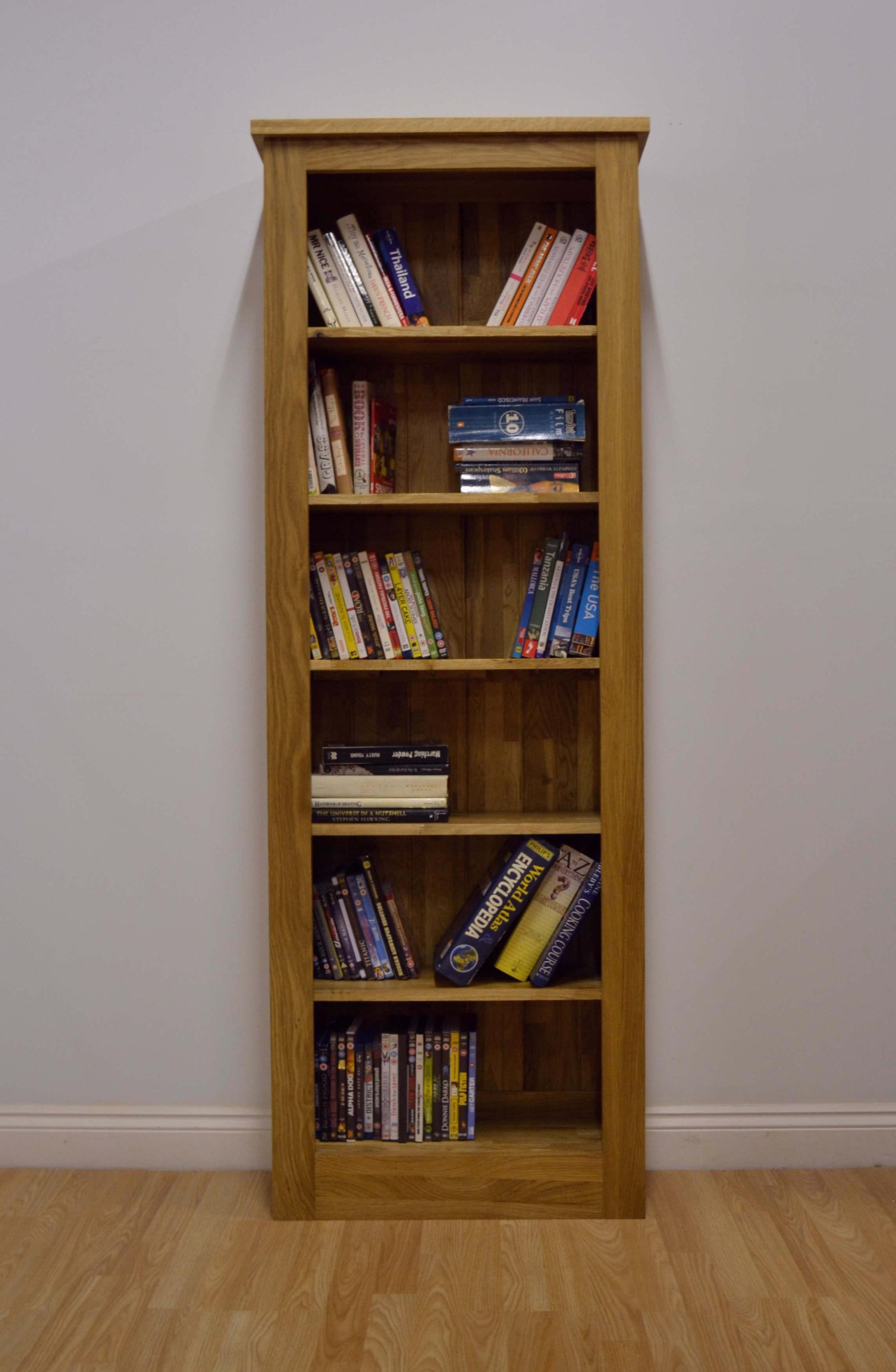 Image of: Tall Narrow White Bookcase