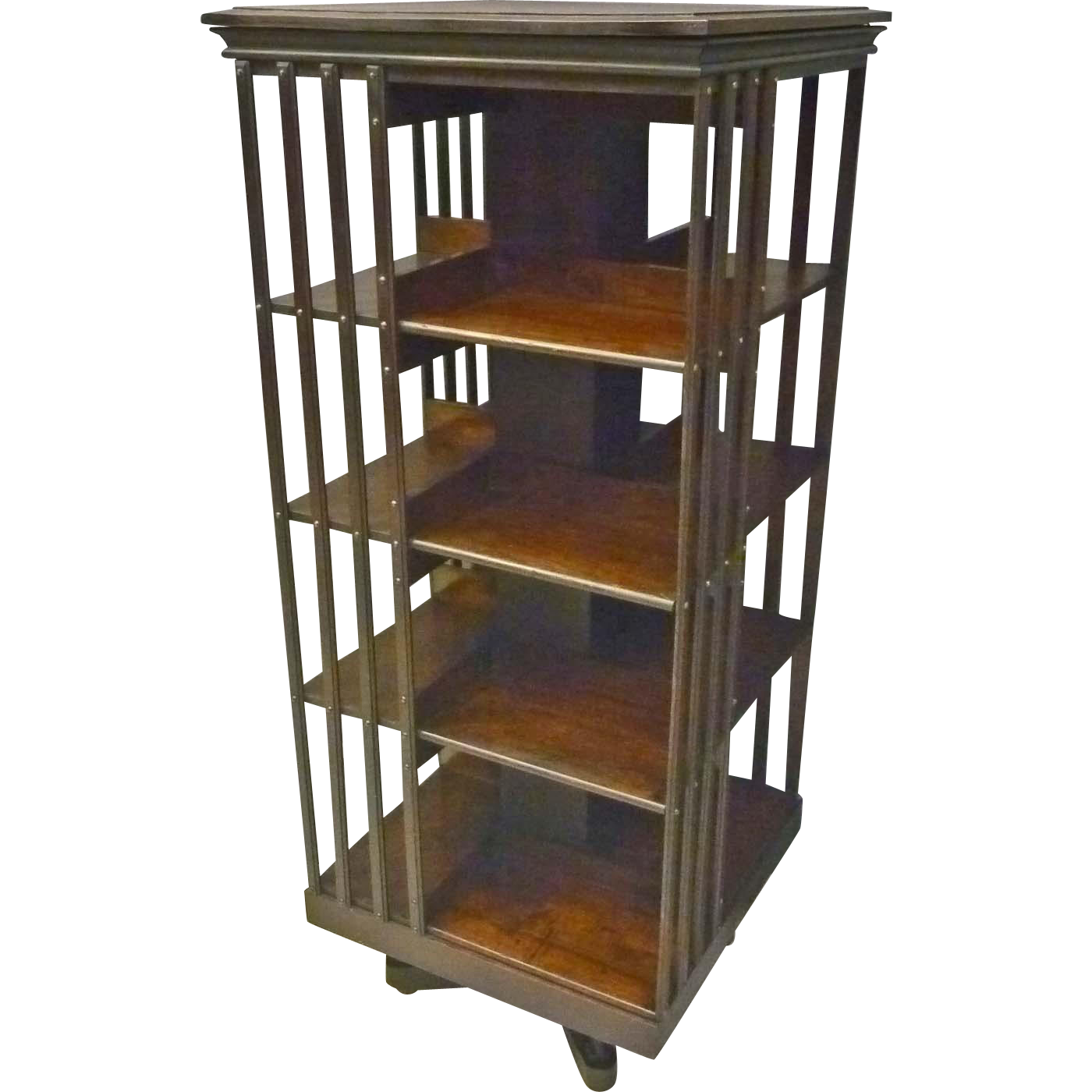 Tall Rotating Bookcase