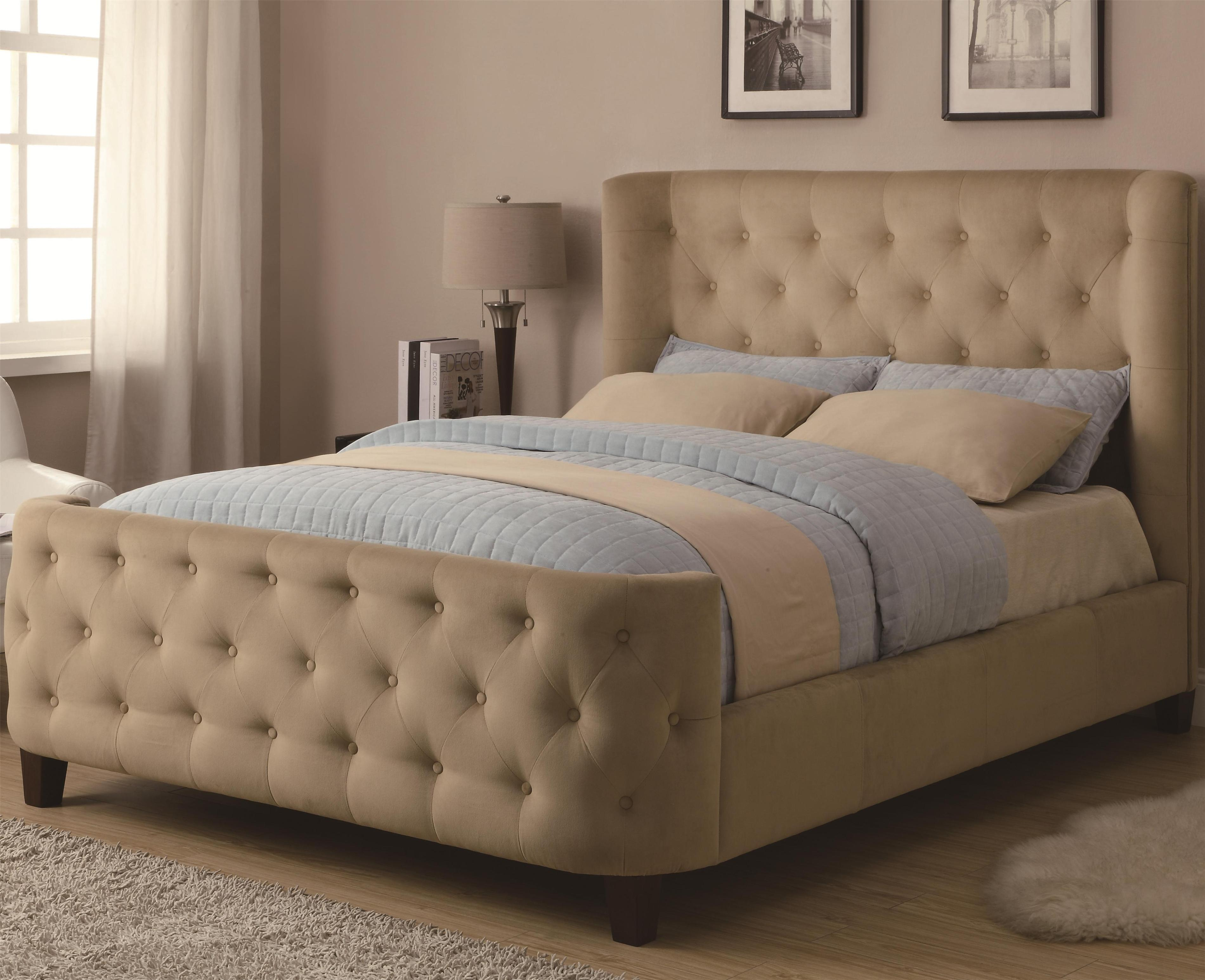 Image of: Tall Tufted Headboard Queen