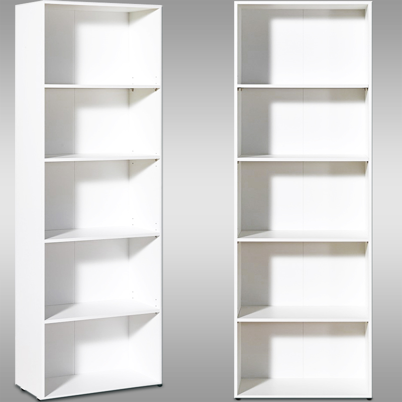 Image of: Tall White Bookcase Home Depot Bookcases