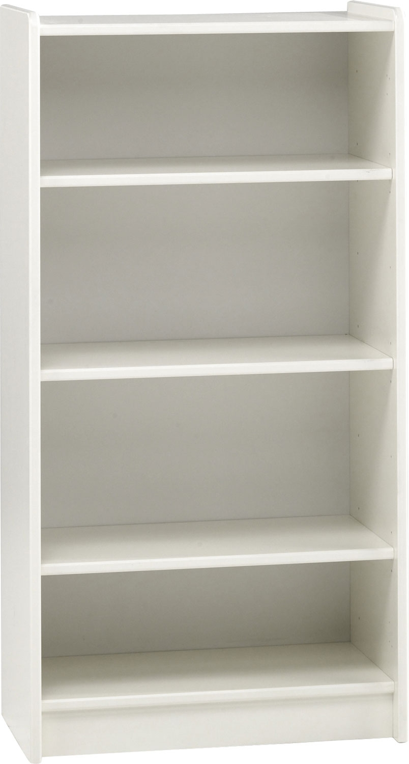 Image of: Tall White Bookcase  glow