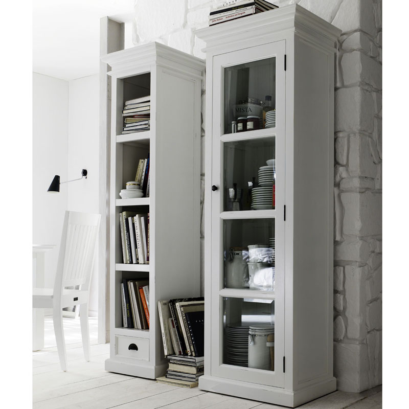 Image of: Tall White Bookcase  hight