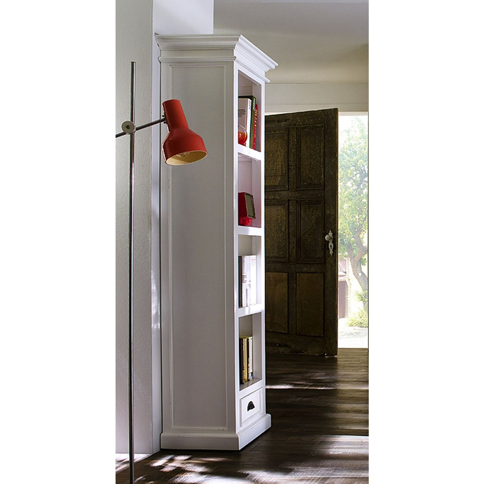 Image of: Tall narrow bookcase Shelves