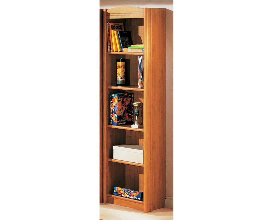 Image of: Tall narrow bookcase White Bookcase