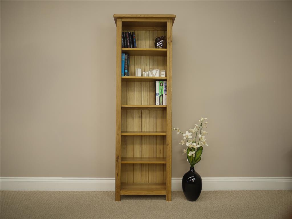Image of: Tall narrow bookcase flower
