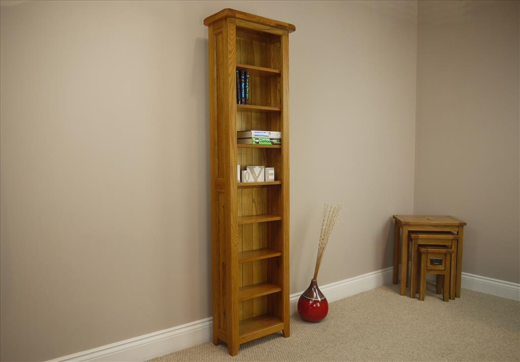 Image of: Tall narrow bookcase tall