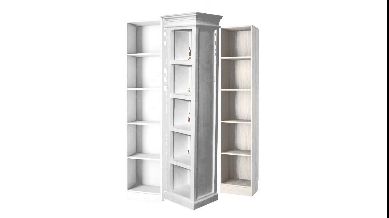 Image of: Tall narrow bookcase white
