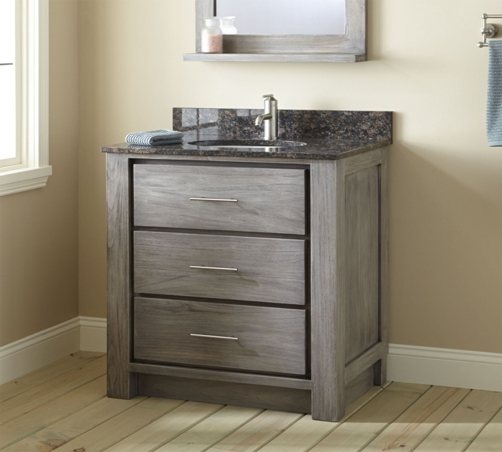 teak  inch bathroom vanity