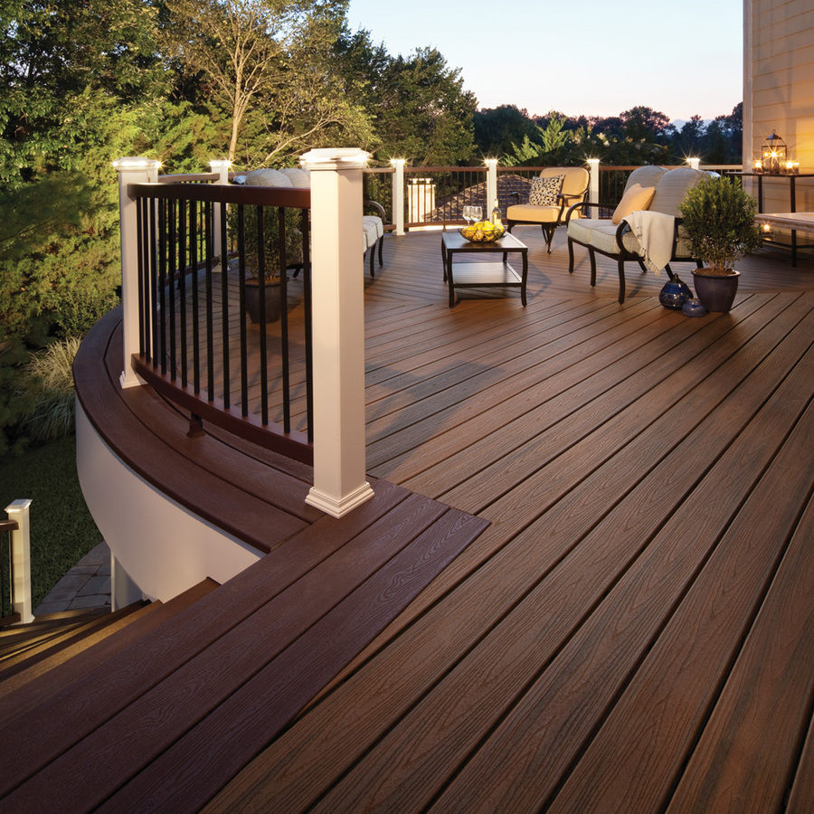 Image of: The Vinyl Deck Railing