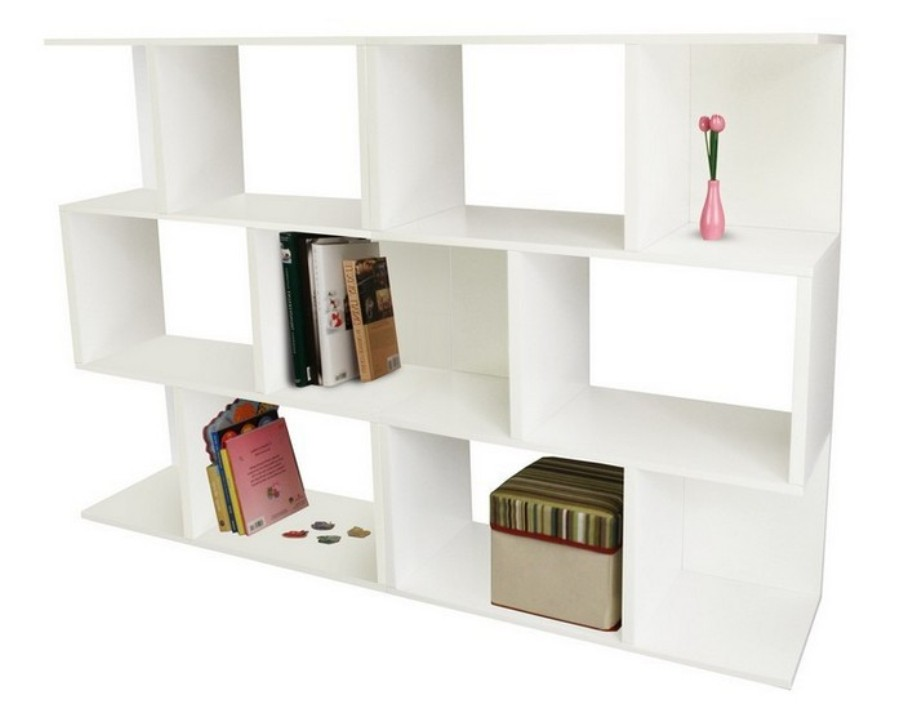 Image of: Three shelf bookcase espresso