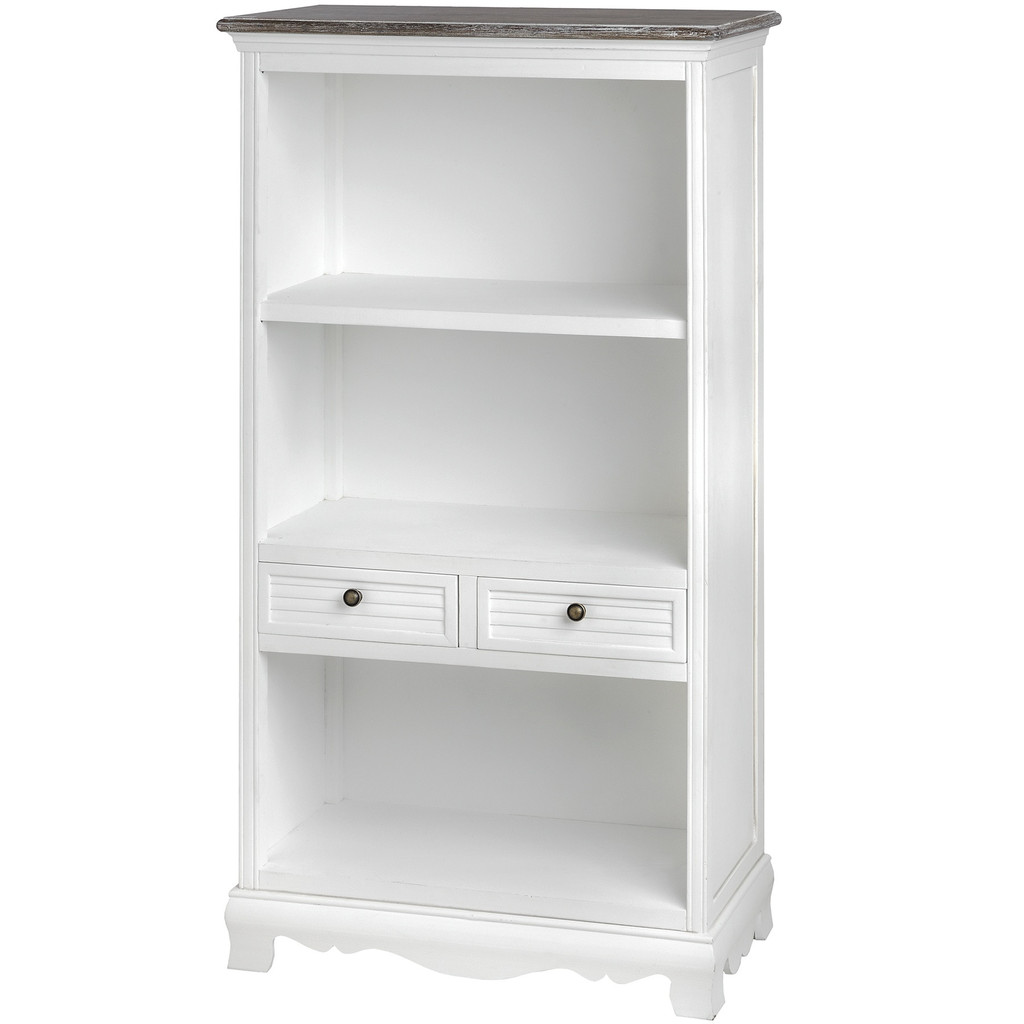 Top Antique White Bookcase