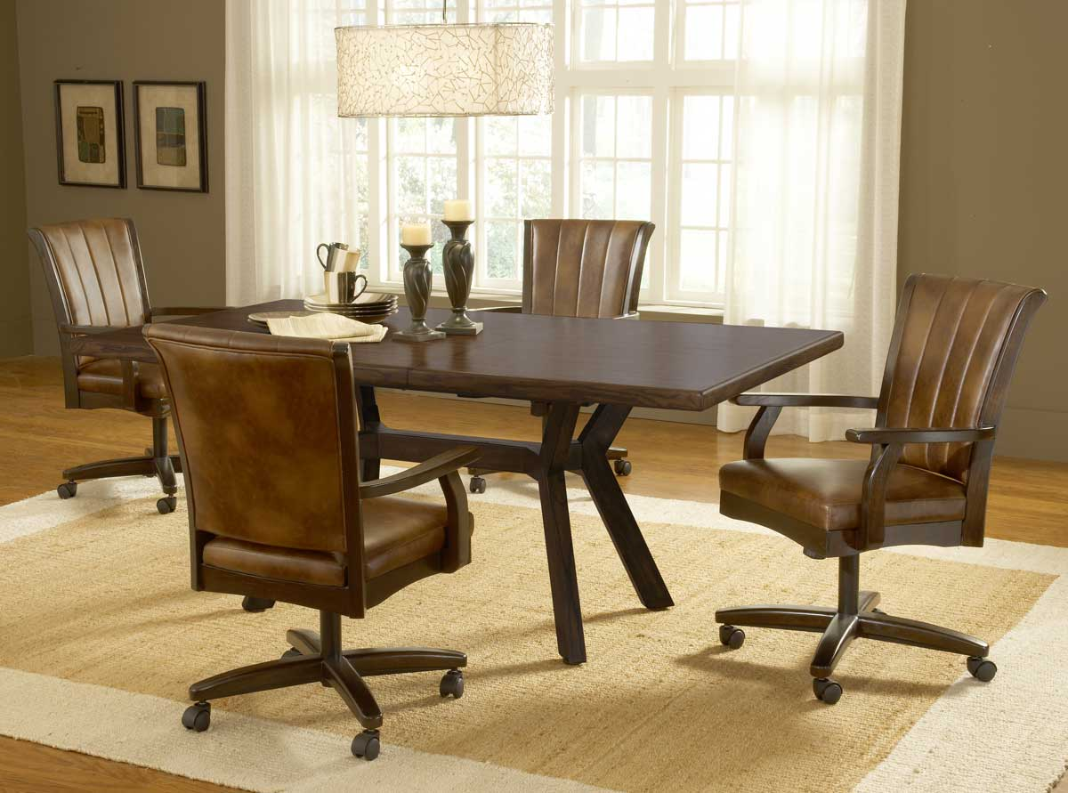 Image of: Top Dining Room Chairs With Casters