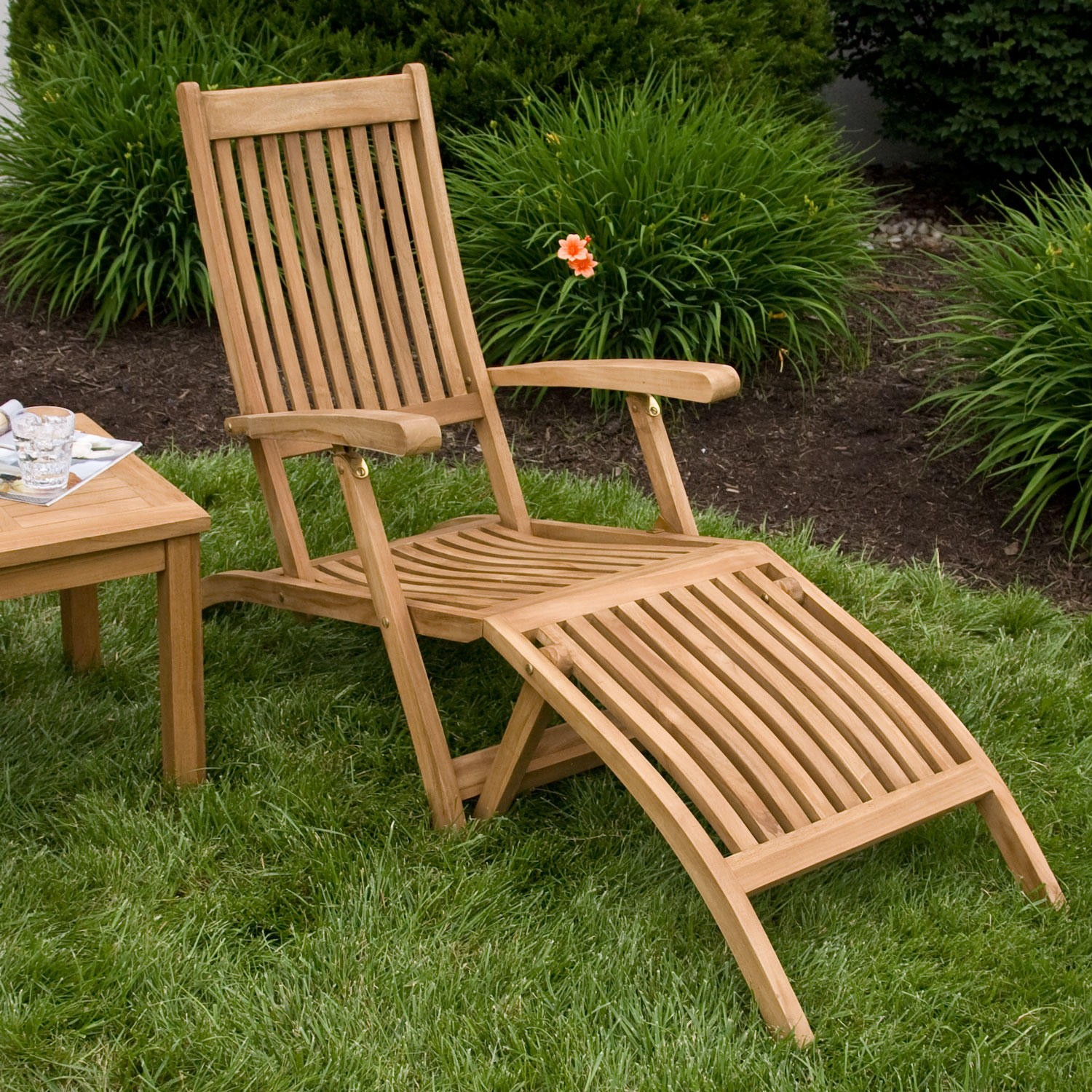Image of: Top Teak Lounge Chair