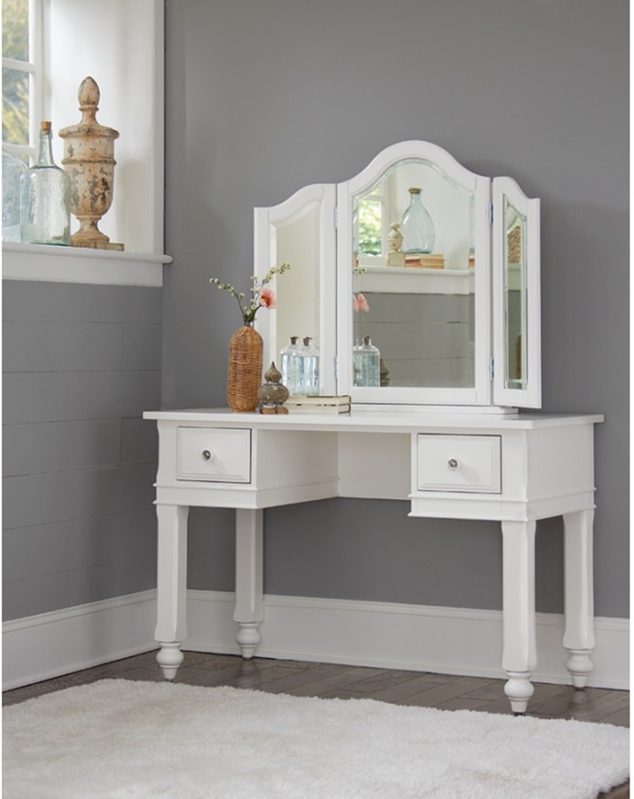 Image of: Top Vanity Desk With Mirror