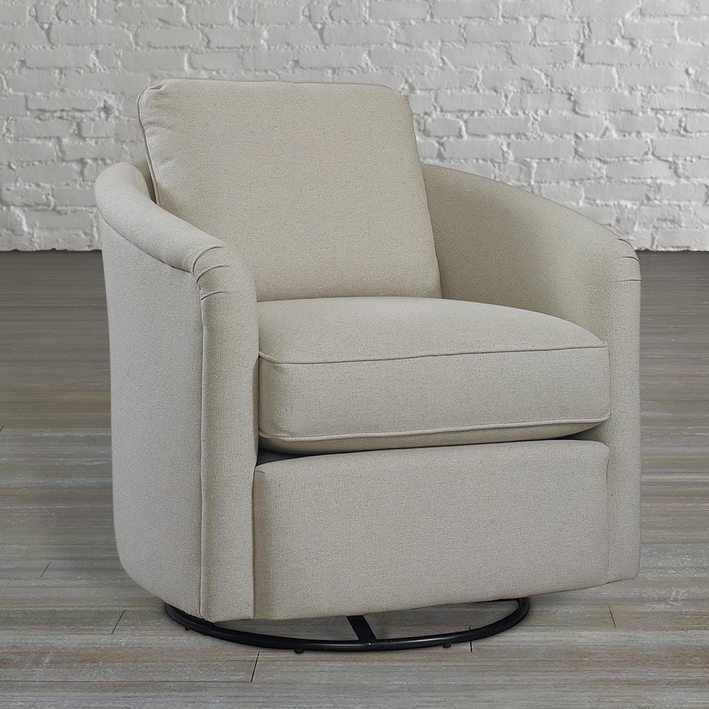 traditional swivel barrel chair