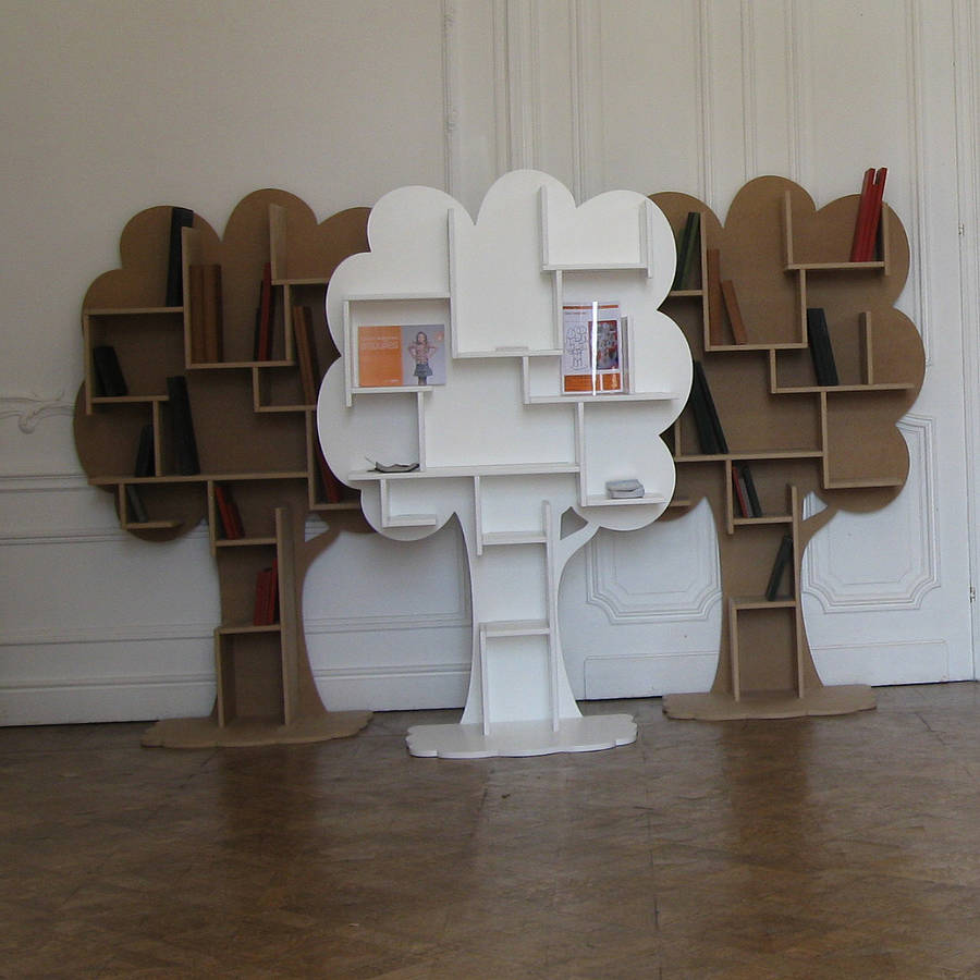 Image of: Tree Bookcase   Plans