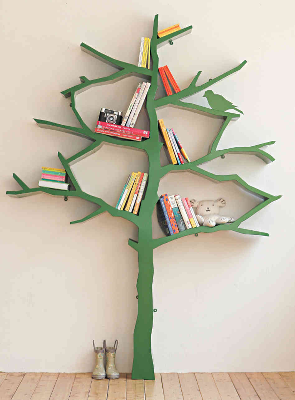 Image of: Tree Bookcase  for Kids Rooms tall
