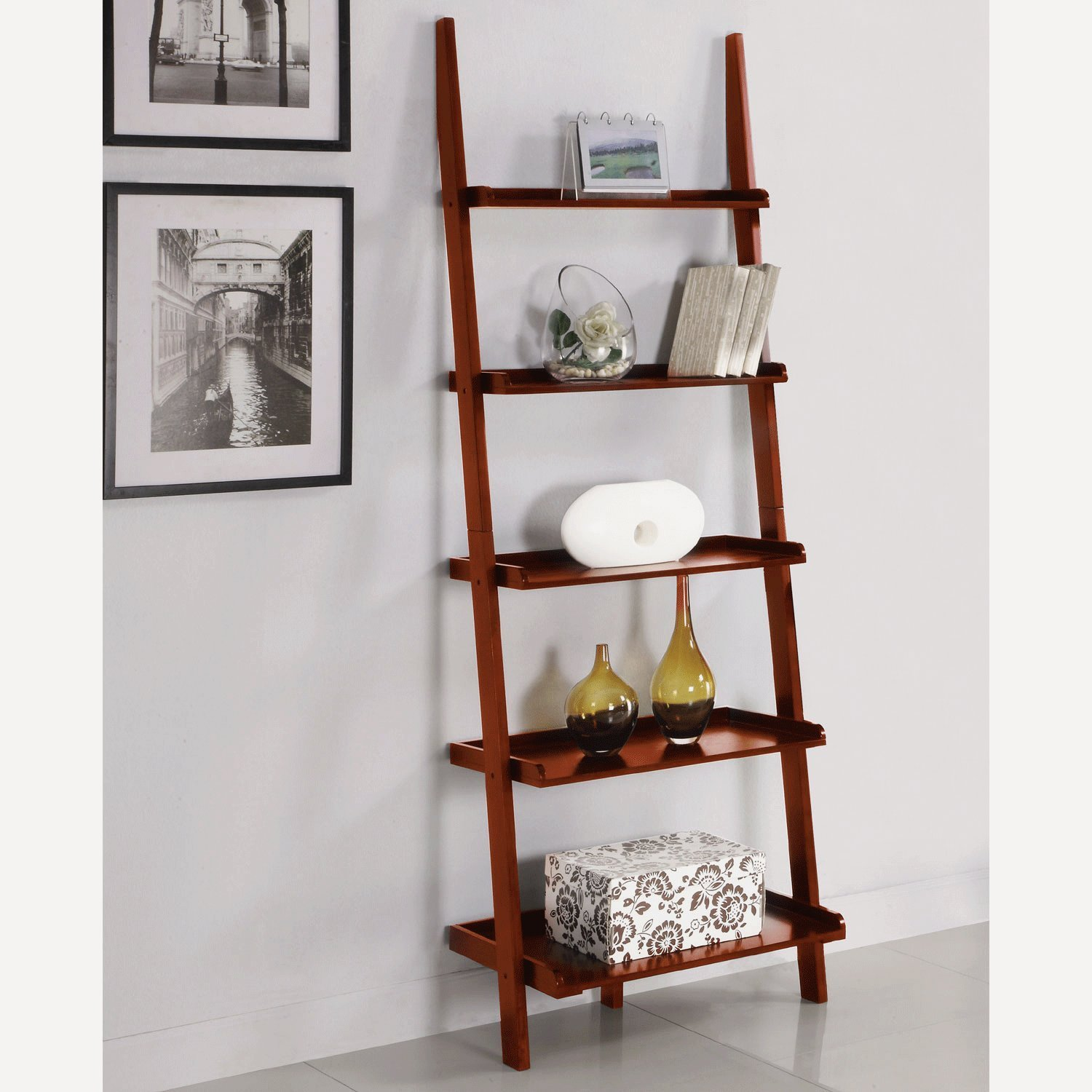 Image of: Trend Ladder Bookcase