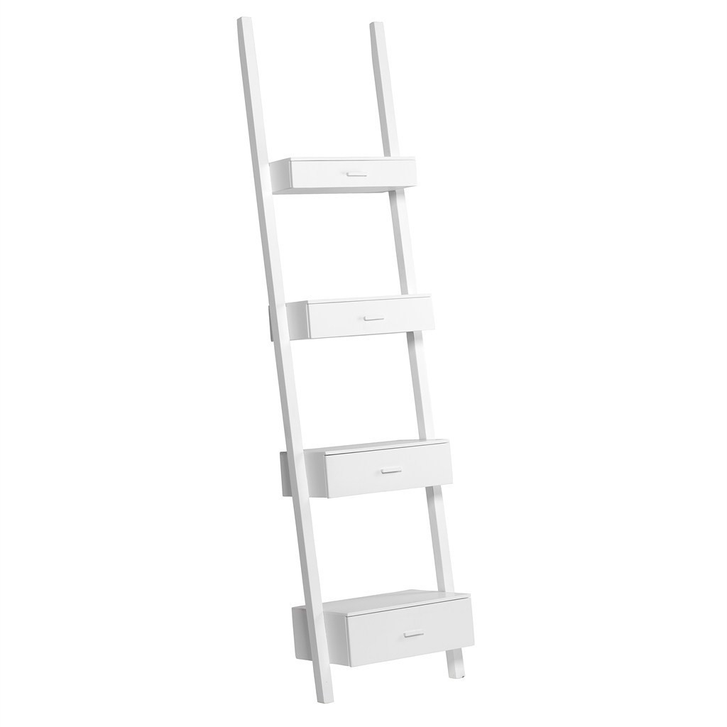 Image of: Trend White Ladder Bookcase 2018